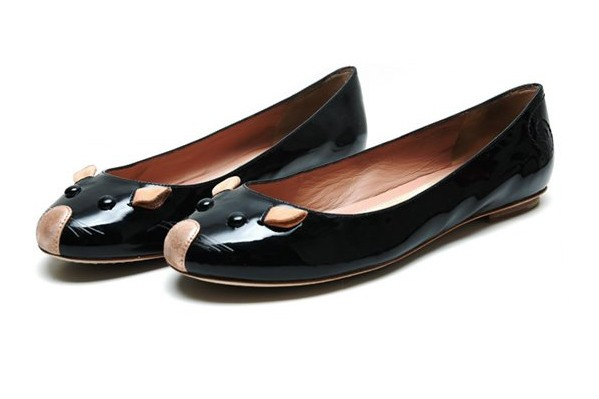 Marc-by-Marc-Jacobs-Black-glitter-patent-mouse-ballerinas-chs1