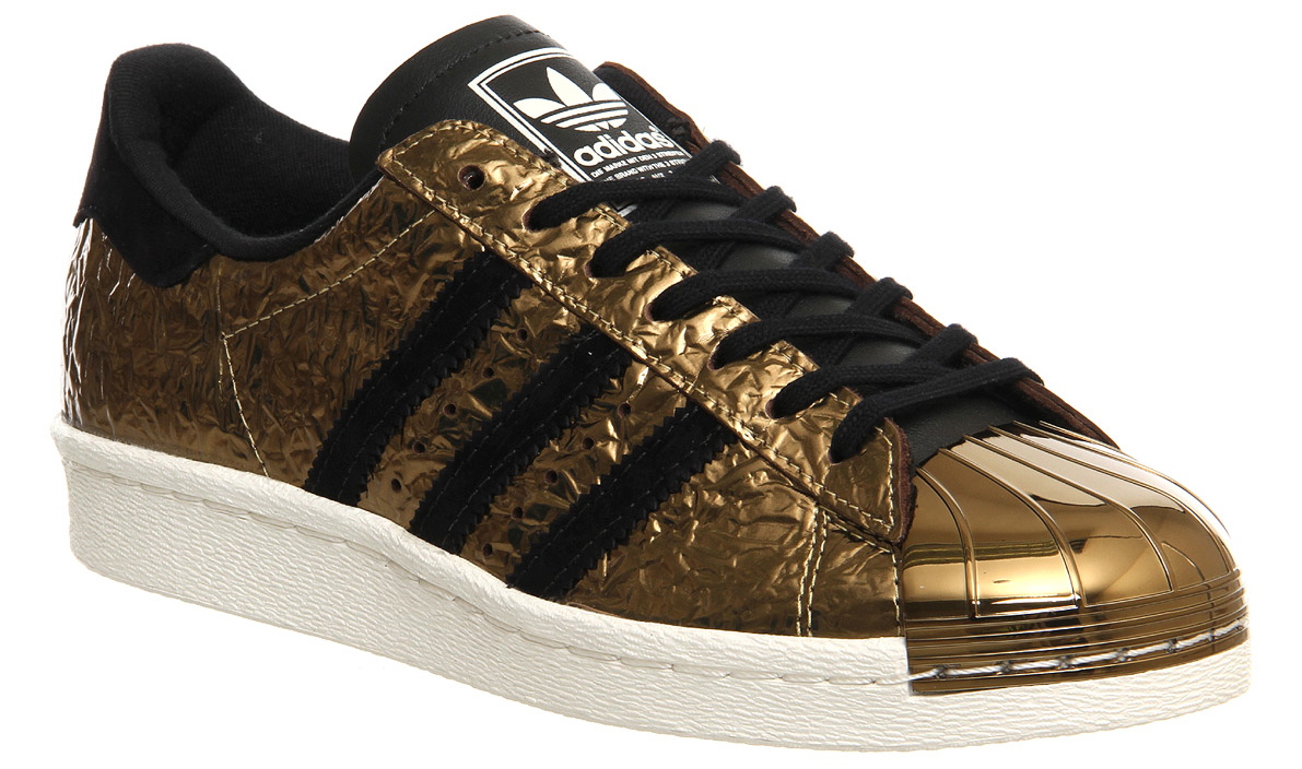 adidas superstar 80s metal toe gold foil black and blue. Black Bedroom Furniture Sets. Home Design Ideas