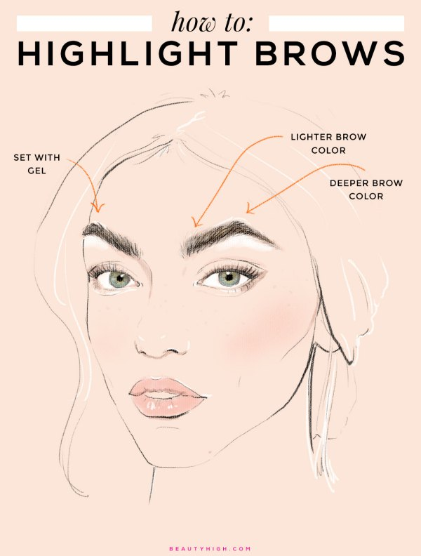 how-to-highlight-brows-with-makeup